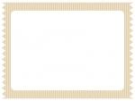 ストライプのテープ風のフレーム飾り枠イラスト