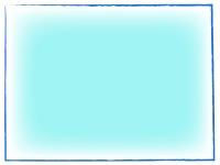 清涼感ある手書き線風のフレーム飾り枠イラスト