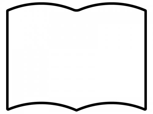 本・ブック風フレーム飾り枠イラスト