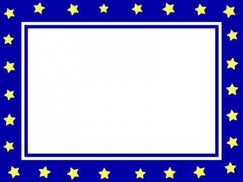 夜空をイメージした星のフレーム飾り枠イラスト