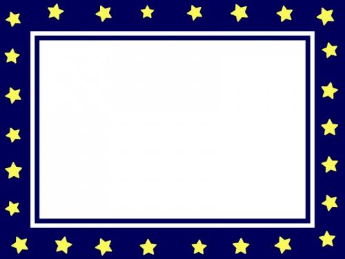 夜空をイメージした星のフレーム飾り枠イラスト02