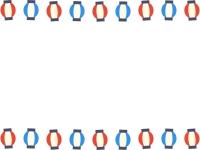 提灯のお祭りフレーム飾り枠イラスト
