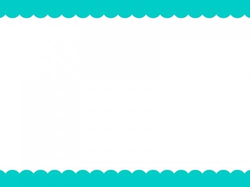 シンプルな上下のモコモコのフレーム飾り枠イラスト