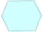 涼しげな六角形の手書き線風のフレーム飾り枠イラスト