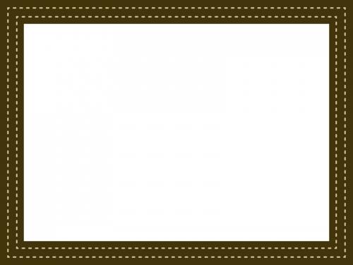 ステッチ風の点線のフレーム飾り枠イラスト