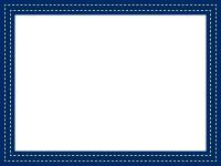 ステッチ風の点線のフレーム飾り枠イラスト02