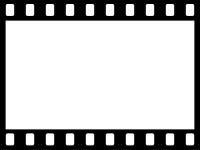 フィルム風のフレーム飾り枠イラスト