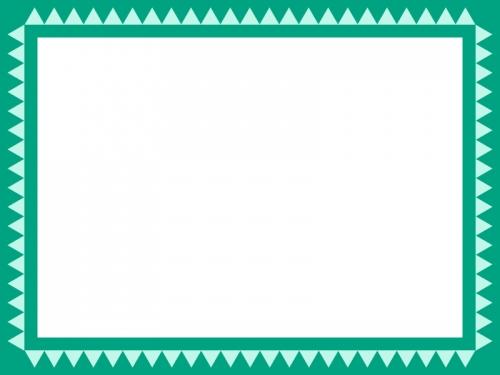 シンプルなギザギザ模様のフレーム飾り枠イラスト
