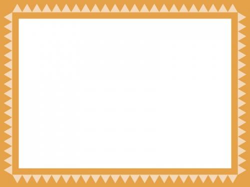 シンプルなギザギザ模様のフレーム飾り枠イラスト02