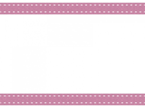 上下のシンプルなステッチ入りフレーム飾り枠イラスト02