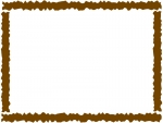 ラフなギザギザ模様のフレーム飾り枠イラスト