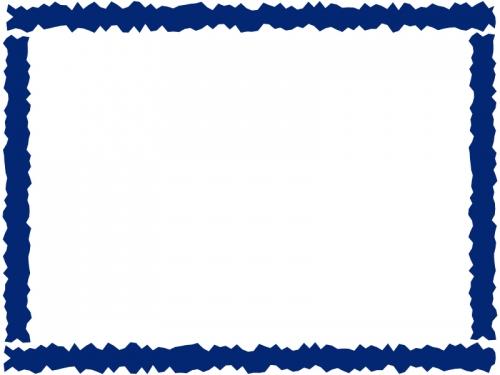 ラフなギザギザ模様のフレーム飾り枠イラスト02