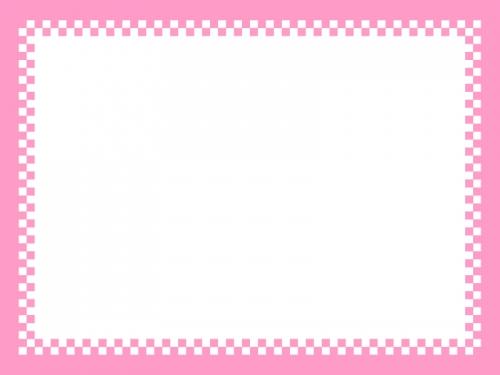 市松模様の四角フレームの飾り枠イラスト