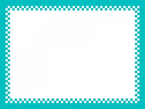 市松模様の四角フレームの飾り枠イラスト02
