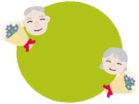 敬老の日の円フレーム飾り枠イラスト