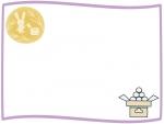 十五夜とお月見団子のフレーム飾り枠イラスト