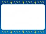 十五夜・うさぎとすすきのお月見上下フレーム飾り枠イラスト