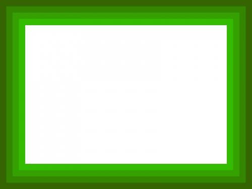 グリーングラデーションのフレーム飾り枠イラスト