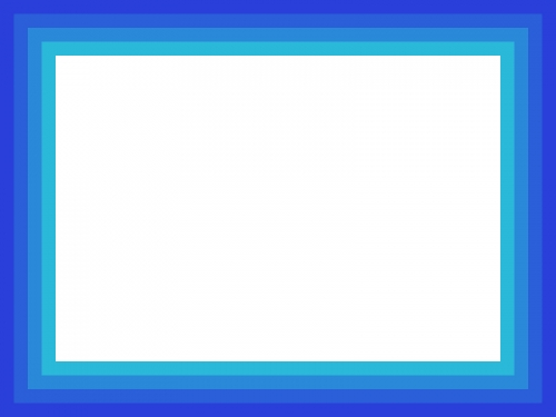 ブルーグラデーションのフレーム飾り枠イラスト