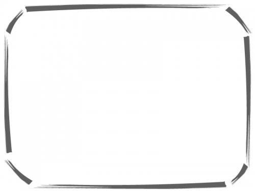 筆線の和風フレーム飾り枠イラスト