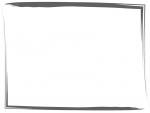 筆線のシンプルな和風フレーム飾り枠イラスト