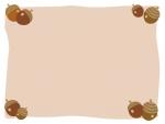 秋のドングリのフレーム飾り枠イラスト