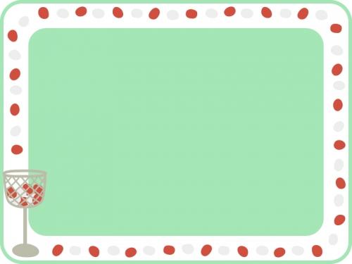 運動会・玉入れの囲みフレーム飾り枠イラスト