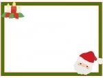 サンタとキャンドルのクリスマスフレーム飾り枠イラスト