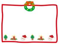 クリスマスの手書き風枠のフレームイラスト