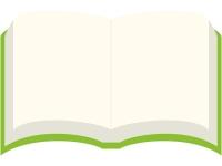 見開きの本のフレーム飾り枠イラスト