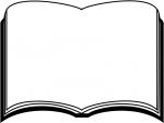 読書・本の白黒フレーム飾り枠イラスト