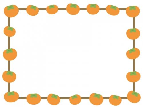 柿の囲みフレーム飾り枠イラスト 無料イラスト かわいいフリー素材集