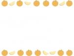 梨の上下フレーム飾り枠イラスト