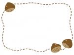 栗の点線フレーム飾り枠イラスト