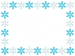 雪の結晶の囲み枠のフレームイラスト02