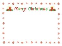 雪の囲みのクリスマスフレーム飾り枠イラスト