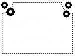小花の点線白黒モノクロフレーム飾り枠イラスト02