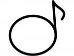 音符の白黒フレーム飾り枠イラスト