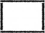 太い手書き風線の白黒フレーム飾り枠イラスト