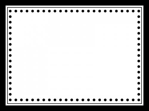 かわいい白黒のシンプルなフレーム飾り枠イラスト