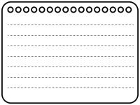 白黒のノート風フレーム飾り枠イラスト