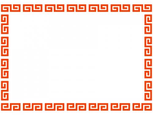 中華のフレーム飾り枠イラスト