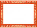 中華のフレーム飾り枠イラスト02