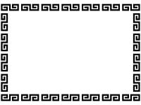 中華の白黒フレーム飾り枠イラスト