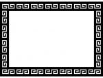 中華の白黒フレーム飾り枠イラスト02