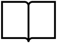 本・ブックの白黒シンプルフレーム飾り枠イラスト02