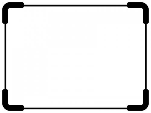 太角丸の白黒シンプルフレームの飾り枠イラスト