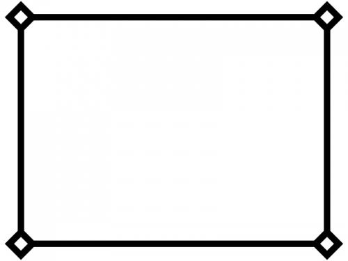 白黒のシンプルな線のフレーム飾り枠イラスト
