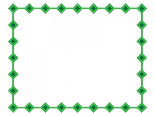 ひし形(ダイヤ)で囲ったシンプルフレーム飾り枠イラスト