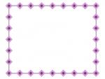 ひし形(ダイヤ)で囲ったシンプルフレーム飾り枠イラスト02